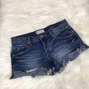 Free People Denim Distressed Cut off Jean Shorts